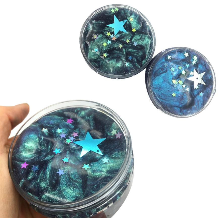 Interesting Toys Galaxy Mixing Cloud Slime Squishy Putty Scented Stress Kids Crystal Clay Toy Adults relieve stress kids gift