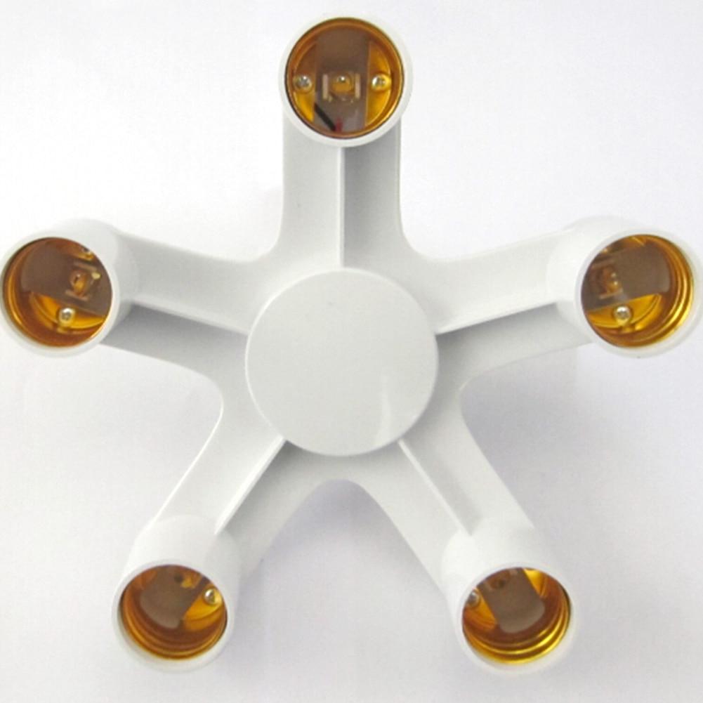 4  E27 Socket Adapter 3 In 1 100W 85-285V Compatible With  Light Bulb E27 Base Extend Splitter Plug LampHolder