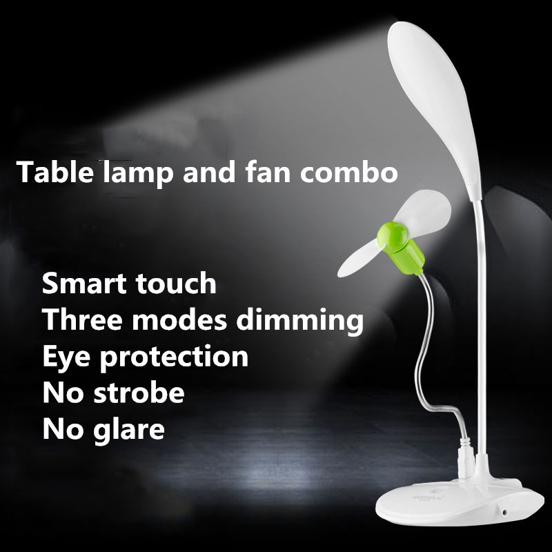 Lightweight Desk Lamp Double Headed Table Lamp Reading Studying Bedside For Livingroom Bedroom Kindergarten Kids Friend Gifts