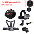 Action Camera Accessories Set Wrist Strap Head Strap Chest Harness for 360fly Panoramic HD Video Action Camera