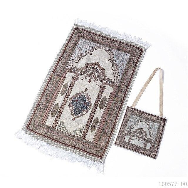 Estera de oración islámica portátil, Alfombra de viaje para rezar, Salat musulmán, muslah, Sajadah, manta de oración Islámica, con bolsa