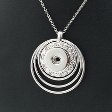 Pendant Link-Chain Jewelry Snap Necklace Women Xinnver with Fit-18mm Snap-Button
