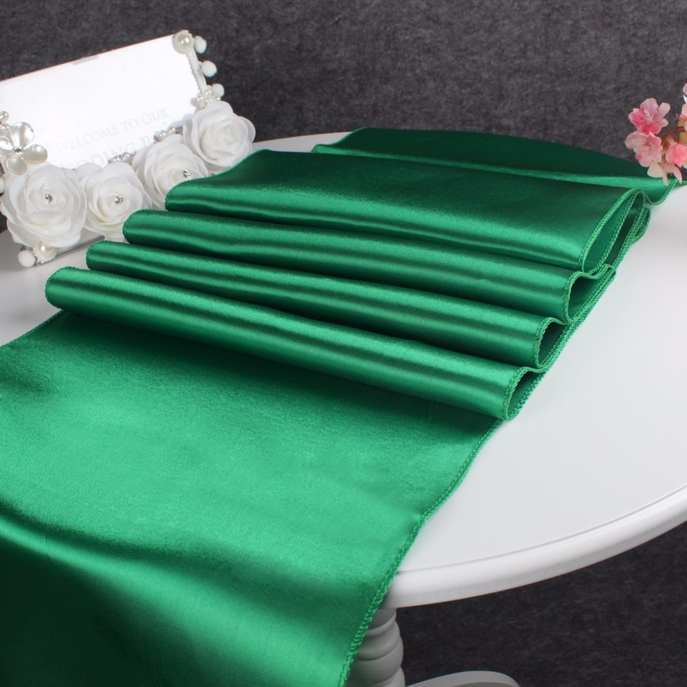 felt table runner promotionshop for promotional felt table runner  - new emerald satin table runners luxury table runners for wedding decorationchristmas table decor party supplies home textile
