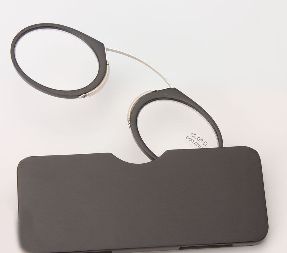 Portabel Klip hidung kacamata presbyopic Dompet Kacamata Baca dengan - Aksesori pakaian - Foto 4