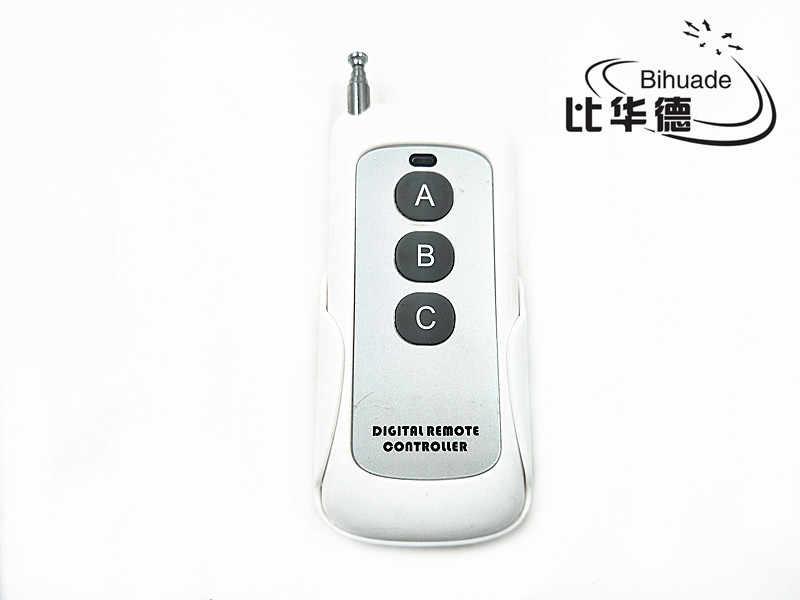 Control remoto de 433mhz Control remoto de largo alcance presentador inalámbrico Módulo de radiofrecuencia Control remoto (Código de aprendizaje 1527) Antena 1-4 botones