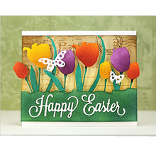 Words Happy Easter Metal Cutting Dies Stencils For DIY Scrapbooking Album Paper Cards Crafts Embossing Decor 2018 New Die Cuts