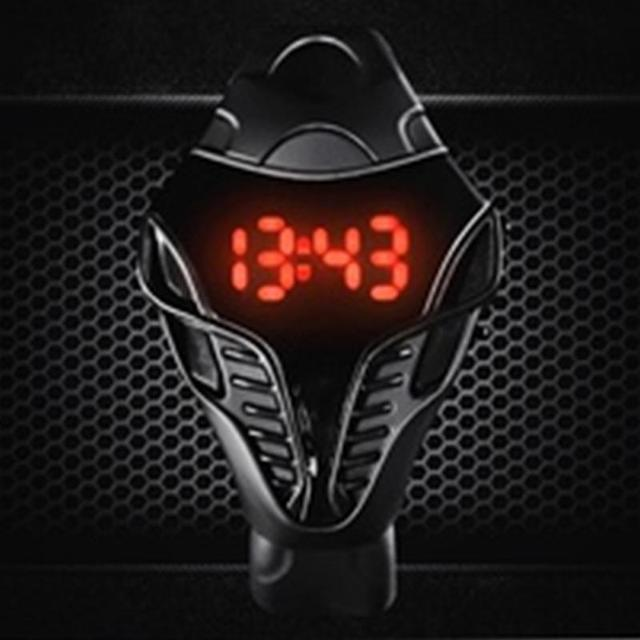Cobra Sport Watch Black Color Men's LED Digital Watch Cobra Triangle Dial Silicone Sports Electronic Watches 1