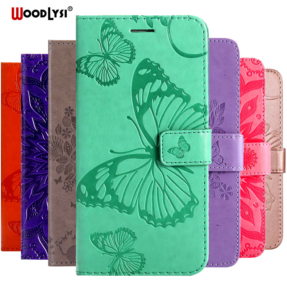 3D Butterfly Flip Case For Huawei Honor 8A JAT-LX1 Case Leather Wallet Phone Case For Huawei Y6 2019 Honor 8A Capa Case