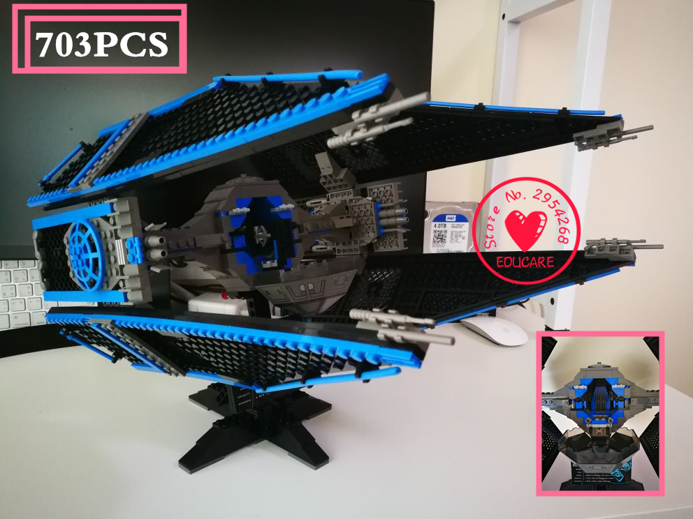 05044 Star Warship wars Limited Edition The TIE Interceptor Building Blocks Bricks Model Toys compatiable with lego kid gift set 1pc iron man star wars c3po mr gold bike building blocks limited edition chrom golden diy figures kids assemble bricks xmas toys
