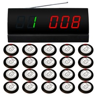SINGCALL Wireless Calling System,for coffee shop.wireless service paging system.20 Service Bells, 1 Screen