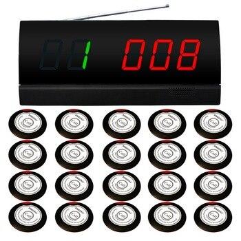 Singcall sistema de llamada sin hilos, para cafetería. wireless paginación servicio system.20 campanas de servicio, 1 PANTALLA