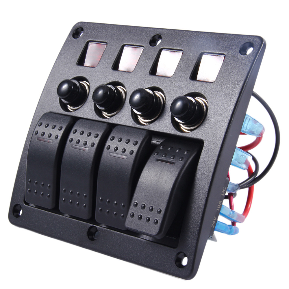 3PIN DC12V/24V Black Automotive With Light 4-Band Lens Combination Panel Switch Home Use Professional Car-Styling Drop Shipping рубашка в клетку dc atura 3 atura black