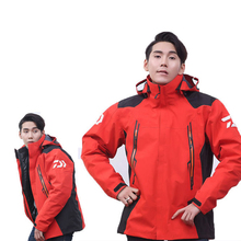 New Men Winter Three Layer Rubber Down Cotton Fishing Clothes Detachable Windproof Breathable Fishing Jacket Windproof Coat