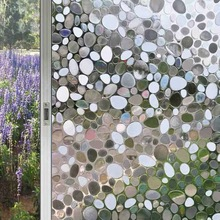 3D Static stone Window Privacy Film Glass Sticker Stained Frosted home bathroom door decorative Self-adhesive film on the table