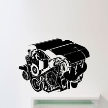 Car Engine Wall Stickers Home Decor Living Room Car Workshop Auto Repair Service Garage Vinyl Wall
