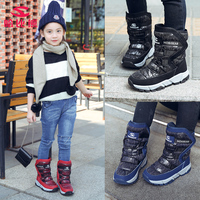 Hot Sale Children Girls Long Boots Winter Boys Shoes For Kids Blue Red Boys Girls Fur Boots For Children Top Quality Kids Boots