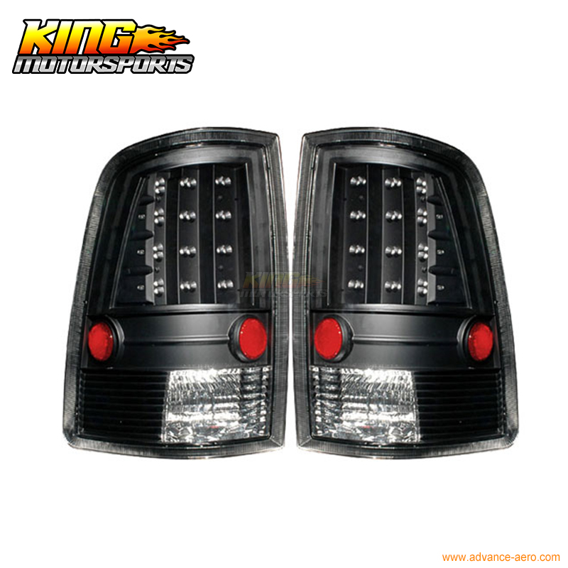 For 2009-2010 Dodge Ram 1500 2500 3500 LED Tail Lights Black USA Domestic Free Shipping xyivyg 02 08 for dodge ram chrome 1500 2500 3500 hd mirror 4 door handle tailgate abs cover