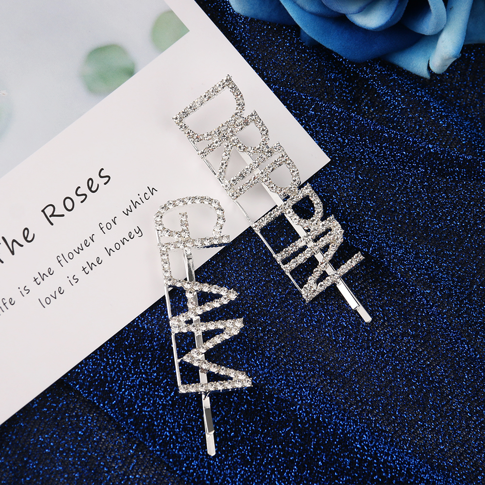 Hair Clip Trend 2019: 2019 Fashion Crystal Hairpin For Women Girls Shiny