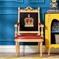 Европа Стиль Король Обеденный Стул Натуральная Кожа Оригинал Теплые Кресла