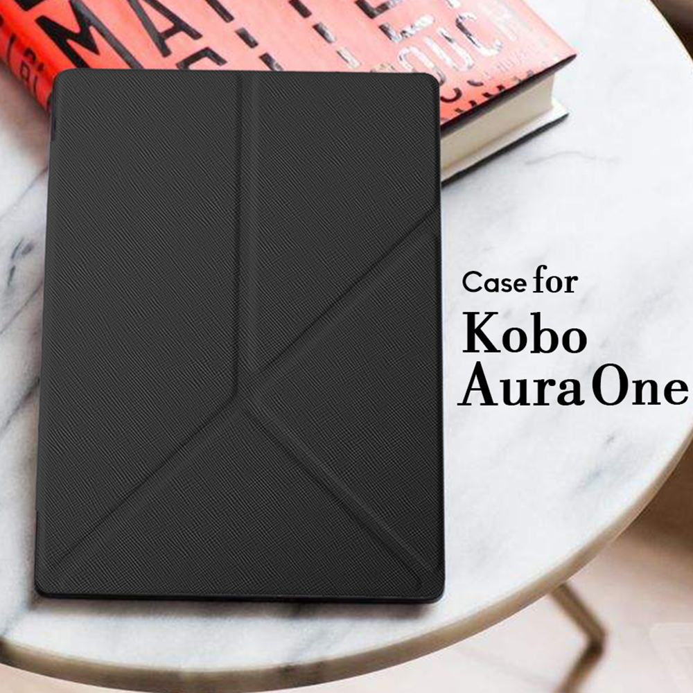 Cover Case for Kobo Aura One 7.8 inch eBook Reader Magnetic PU Leather Case + Screen Protector Film + Stylus Pen ultra slim custer 3 folder folio stand pu leather magnetic skins cover protective case for kobo aura one 7 8 inch ereader ebook