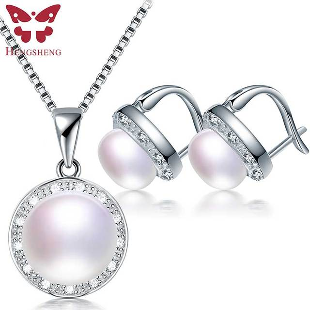 Hengsheng Women Fine Natural Pearl Jewelry Sets 2017 Top Quality