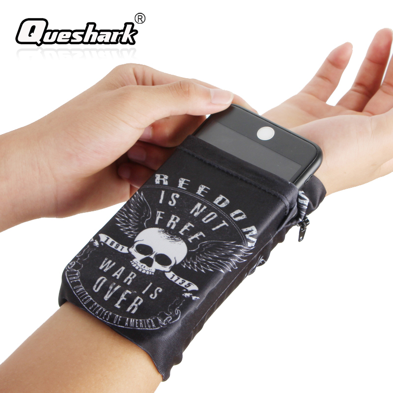 4-5.5in Running Bag Phone Wristband Fitness Wrist Pouch Wallet Basketball Sweatband Jogging Cycling Gym Arm Band Bag for iPhone