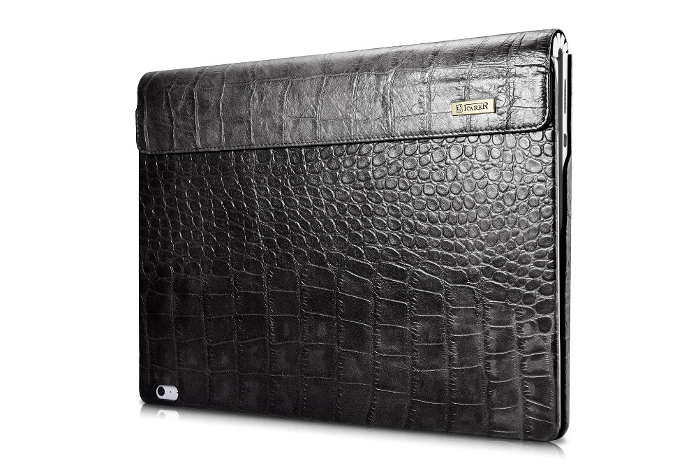 (1PC) icarer Cover For Microsoft Surface Book 13.5'' Tablet Laptop Sleeve Case crocodile pattern Genuine Leather Protective Skin for microsoft surface book 13 5 sleeve bag embossed crocodile genuine leather detachable flip case black skin for surface book