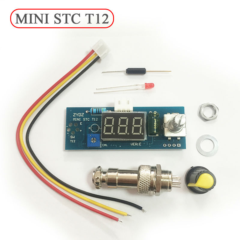 DIY Digital Soldering Iron Station Temperature Controller Board Kit For HAKKO T12 T2 Handle Mini STC T12  цены