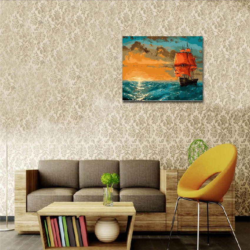 Wall Pictures For Living Room Rhinoceros Picture Coloring By Numbers Diy Painting By Numbers Animal in Painting Calligraphy from Home Garden