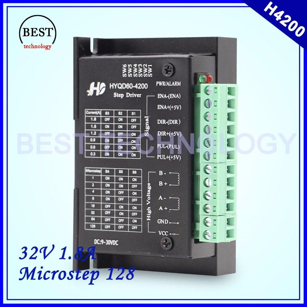 Nema17 Stepper Motor Driver H4200 Motor Driver DC9-30v 1.8A Microstep 128 for NEMA17 stepping motor цена