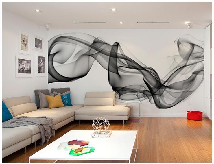Niestandardowe 3D fototapety Dymu chmury streszczenie artystyczny fototapeta tapeta nowoczesna minimalistyczna sypialnia sofa TV obraz papier 13