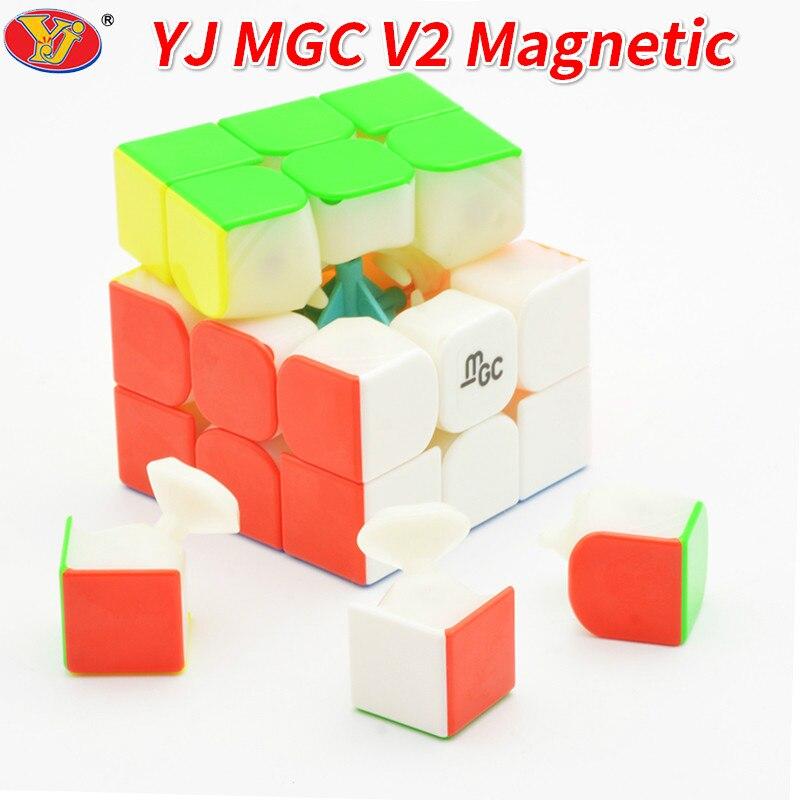 Nuevo YJ MGC II 3x3x3 magnético cubo mágico 2 Yongjun MGC V2 velocidad cubo la formación del cerebro juguetes para los niños