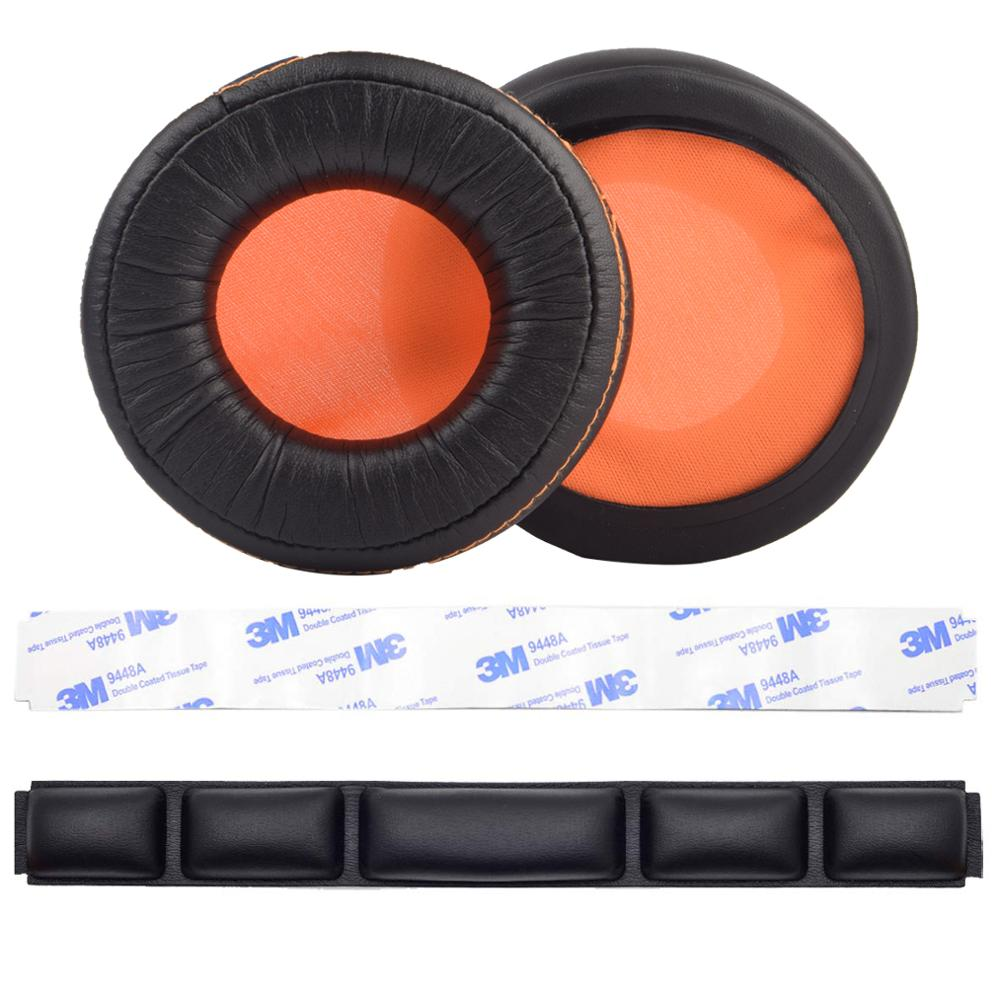 Replacement Ear pads Cushion Cup Cover Earpads Headband for <font><b>SteelSeries</b></font> <font><b>Siberia</b></font> 840 <font><b>800</b></font> Wireless Headphones Headset Repair Parts image