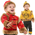 Ceremonized 2013 tang suit male child set piscean baby tang suit 1 - 3 years old velvet fabric