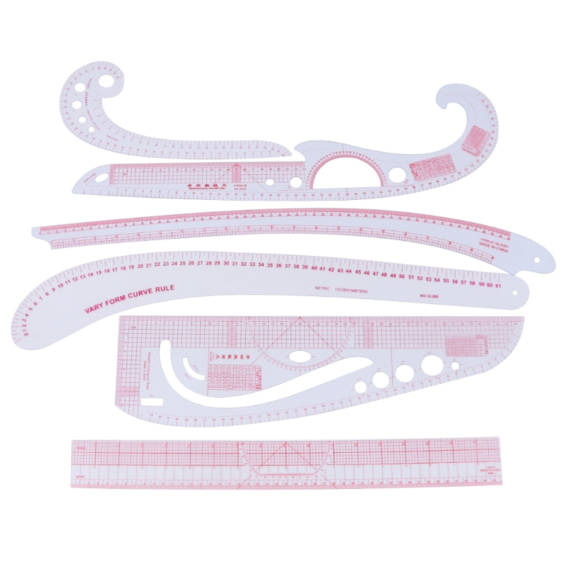 6Pcs/Set Sew French Curve Metric Ruler Measure Tool for Sewing Dressmaking Craft New