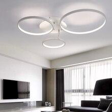 Nueva Llegada Círculo anillos de diseño Moderno llevó la lámpara de techo para sala de estar dormitorio lámpara de techo de control Remoto accesorios