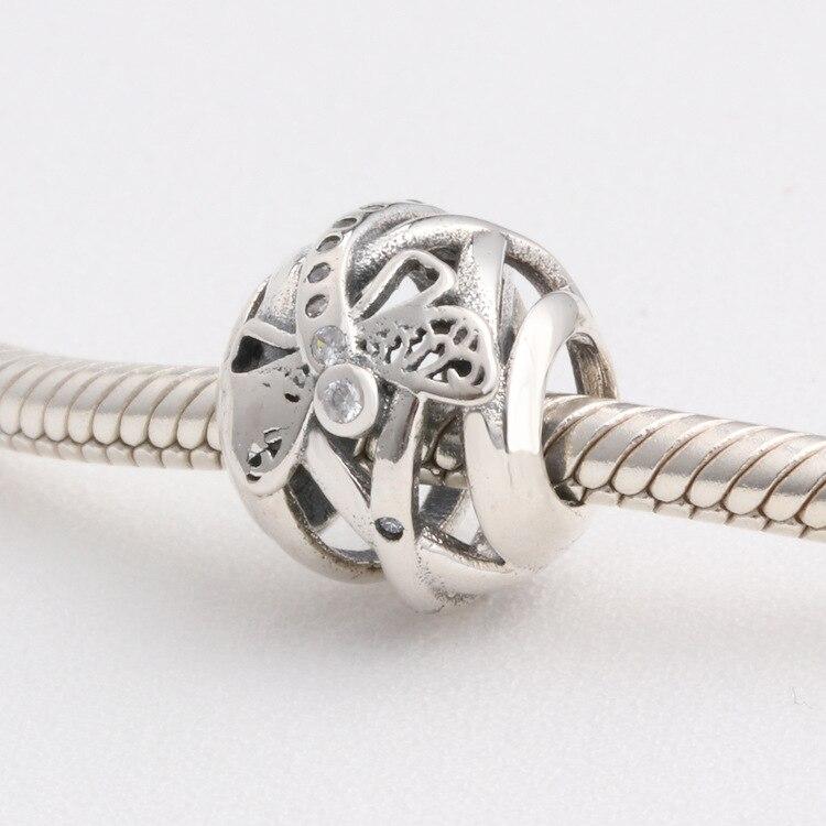 PN 30% Daniel Silber Unendlichkeit Daisy Blume Herz Spacer Perlen Fit Original Charme Armband Authentische Schmuck