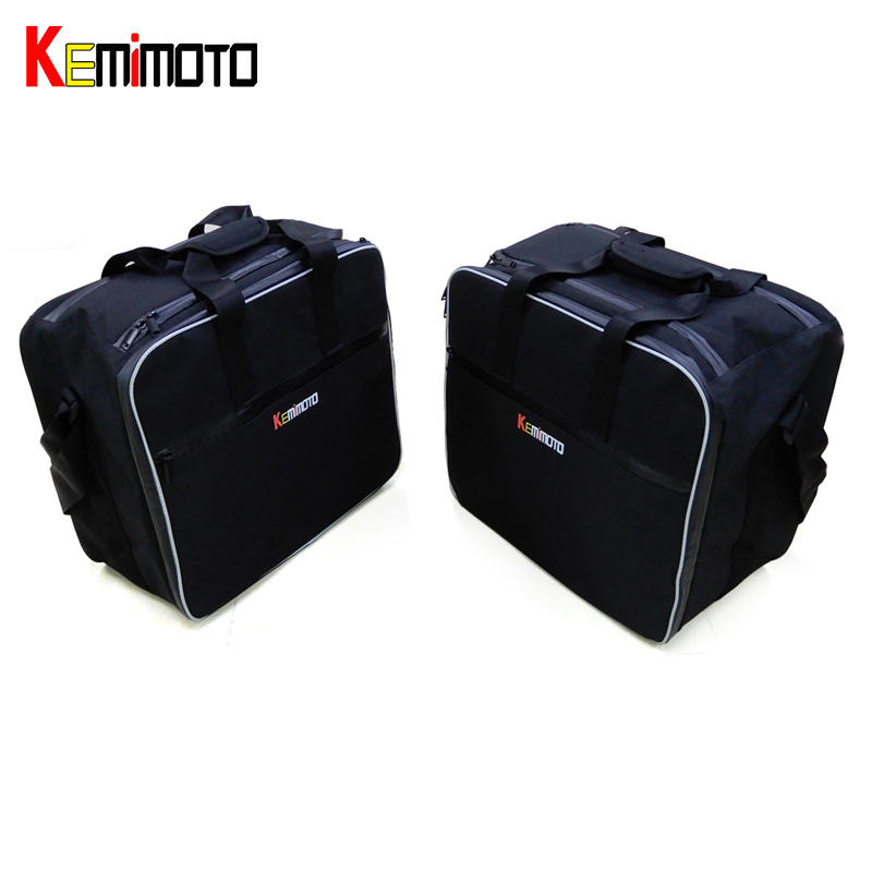KEMiMOTO Motorcycle Inner Bags Black PVC luggage bags For BMW R1200 GS WATER-COOLED LC 2013 2014 2015 2016 2017 AFTER MARKET partol black car roof rack cross bars roof luggage carrier cargo boxes bike rack 45kg 100lbs for honda pilot 2013 2014 2015