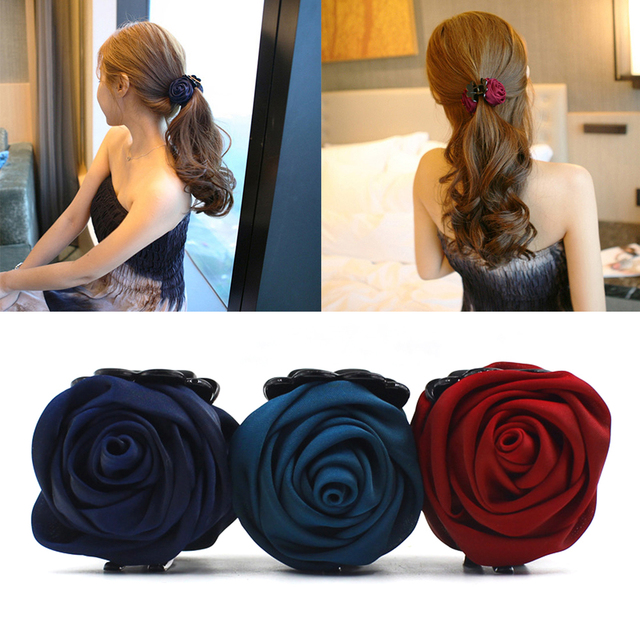 1 pieza pinza de pelo de moda Rosa pinzas de pelo accesorios para mujeres niñas pinza de pelo pinza horquilla accesorios de estilo