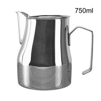 Stainless Steel Pitcher Craft Frothing Jug Cappuccino Espresso Lattes Coffee Milk frothing Pitcher Measuring Cup Art Accessory