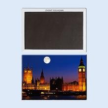 4 разных изображения ночного лондонского магнита на холодильник