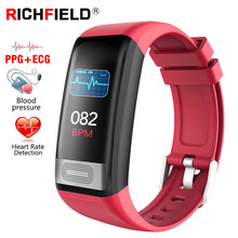 ECG PPG Smart Bracelet Blood pressure Watch Sport SMS Incoming Call Sleep Monitor Smart Band Fitness Tracker Health Wristband hot new brand excelvan sport bluetooth smart bracelet watch sync call sms anti lost health wristband sleep monitor free shipping