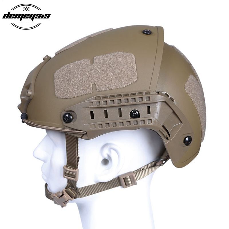 Military Tactical Helmet Airsoft Gear Paintball CS Warmage Head Protector with Night Vision Mount