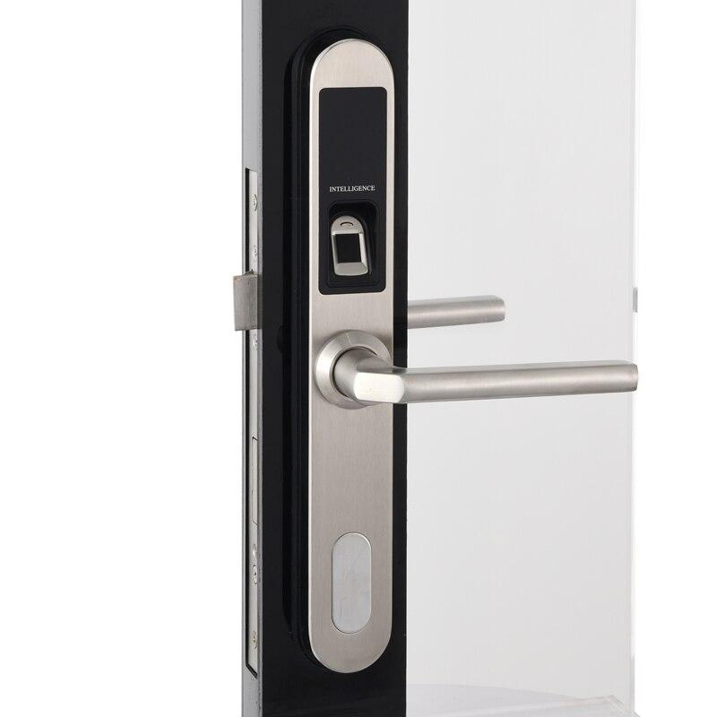 304 SS Intelligente Serratura Elettronica Esterna Impermeabile Scanner Biometrico di Impronte Digitali Serrature senza chiave per Alluminio porta scorrevole In Vetro