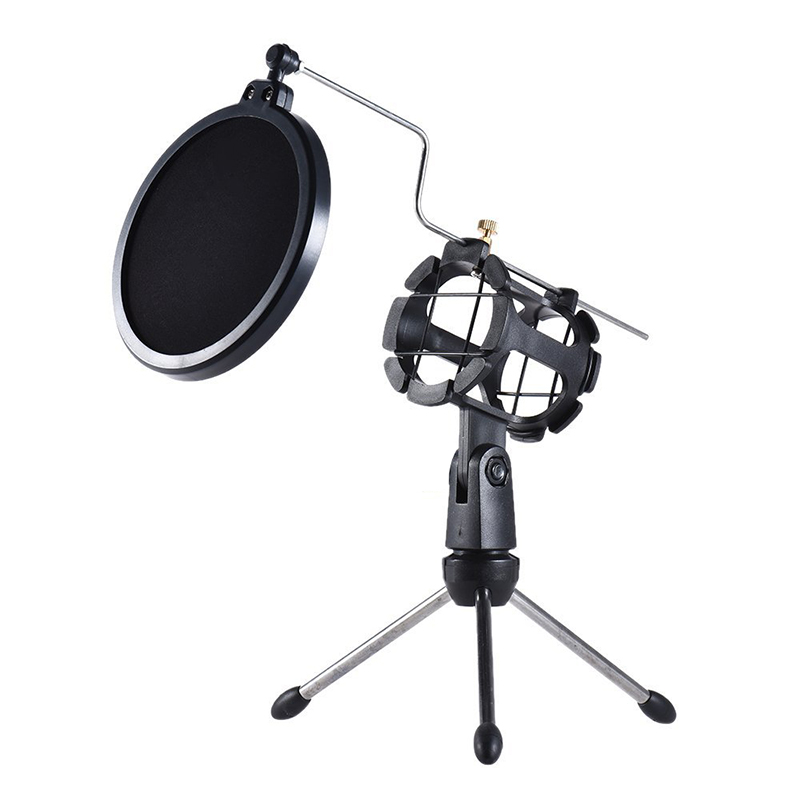 GEVO Tripod For Microphone pop Filter The Mic Holder Accessories Shock Mount Protection Of The Tesktop Microphones Stand  8