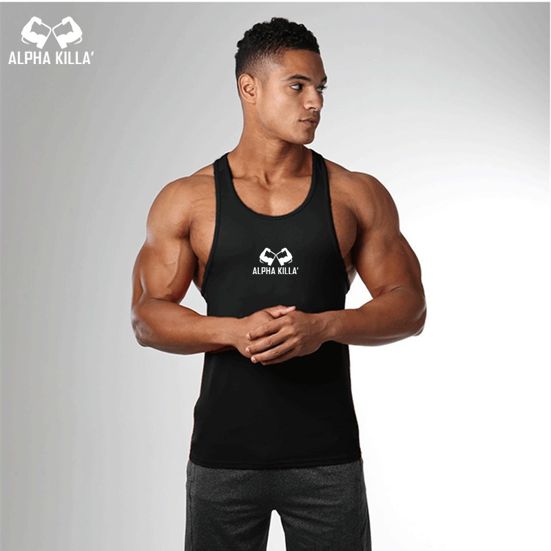 Men Bodybuilding   Tank     top   Gyms Workout Fitness Tight Cotton Sleeveless   tops   clothing Golds Stringer Singlet male Casual Vest