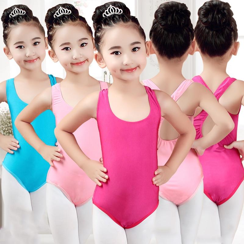 Sleeveless Gymnastics Ballet Leotards For Girls Ballet Costumes Kids Ballerina Bodysuit Dancewear Ballet Vest Jumpsuit DN2183