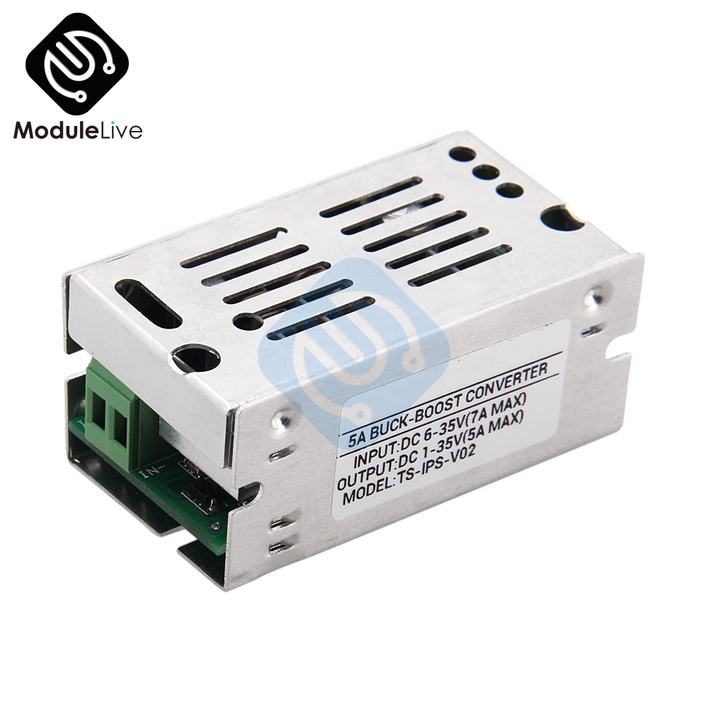 5A Adjustable Auto Voltage Regulate Boost Step Up Down Converter Board Module Voltage Aluminum Case Power Supply Board цена
