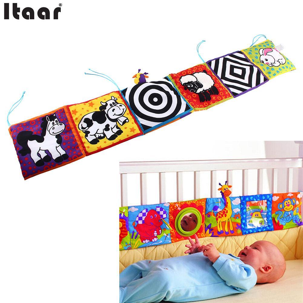 ộ_ộ ༽Niños espejo animales cama cognize cloth libro Infant bebé ...