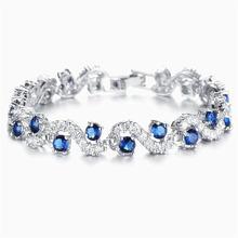 Rongqing модные браслеты с синим цирконием для женщин pulseira